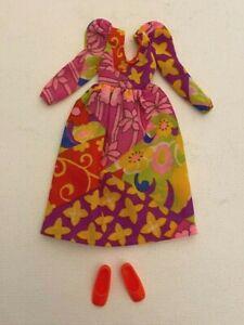 Vintage 1971 Mattel Barbie Francie Doll Mod Outfit Wild Flowers #3456 VHTF