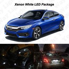 6x White LED Interior Bulbs + Reverse Lights For 2016 2017 Honda Civic COUPE
