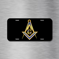 Free Mason License Plate Front Black Auto Tag Plate Masonic Lodge Free Masonry