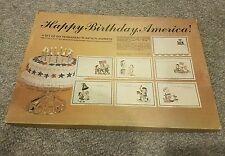 VTG NEW BICENTENNIAL 1776-1976 SET of 6 HAPPY BIRTHDAY AMERICA VINYL PLACEMATS