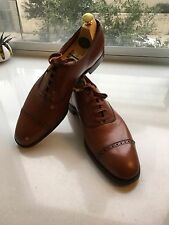 NEW $1315 Edward Green Tan Leather Oxfords For Brooks Brothers Narrow 11A Lobb