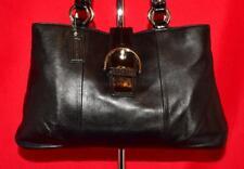 COACH SOHO Black Leather Patent Tote Buckle Shopper Shoulder Bag Purse F19248