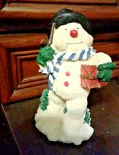 Christmas Home Decor Vtg Holiday Snowman Figurine 9� Frosty Mantle Centerpiece