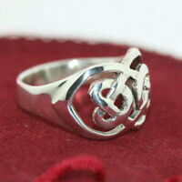 Excellent Vintage Women's 925 Sterling Silver Celtic Knot Solid Ring Band Sz 6.5