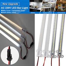 LED Luz de Barra de Duro Rígido tira tubo fluorescente 2835SMD Luz Lámpara de escaparate 220V