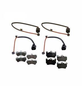For Porsche Cayenne VW Touareg Front & Rear Brake Pads & Sensors Mintex/Febi