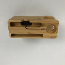 Charger Stand Dock Station Apple Watch iPhone Charging iWatch And Phones Bamboo