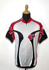 Pearl Izumi Jersey L Men Zip Gray Red Racing Shirt Short Sleeve Professional