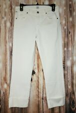 NEW CITIZENS OF HUMANITY Dani Cropped Straight Leg Jeans Women's Size 27 Ivory