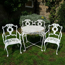 Georgian Style Garden Set of Pair of Chairs Bench & Table