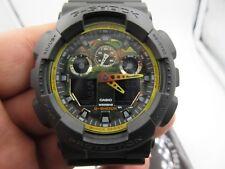 Casio watch G-Shock Men's Analog-Digital Black & Yellow Resin Strap GA100BY-1A