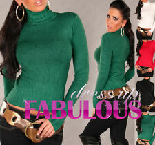 Women's Regular Cotton Turtleneck, Mock Jumpers & Cardigans