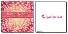 High Quality Affordable Muslim Wedding Walima Shaadi Cards 06 Red Hot Paisley