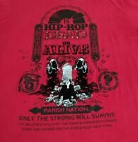 Parish Nation Mens 4XL Red T-Shirt Hip Hop Dead Velvet Graphic Rap Tee Urban