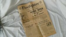 Fire Brigades Union Newspaper 'Firefighter' August 1964.