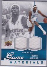 Julian Wright 2009-10 UPPER DECK GAME-USED S/N'd 020/550 Jersey Card #GJ-JU