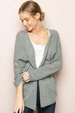 Brandy Melville super soft light weight gray wool blend caroline cardigan NWT