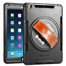 """Apple iPad 9.7"""" New 2017 Case Built-in Stand Screen Protector Leather Hand Strap"""