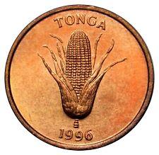 Tonga 1 Seniti coin 1996 KM#66 UNC corn FAO