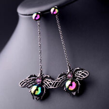 New Betsey Johnson Spider insect pendant earrings N478