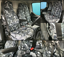 RENAULT TRAFIC 2010 ON VAN SEAT COVERS CAMOUFLAGE DPM CAMO GREEN HEAVY DUTY 2-1