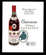 ORIGINAL 1934 COURVOISIER BRANDY COGNAC  NAPOLEON- KING GEORGE -GUSTAV PRINT AD