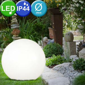 25 cm Solar 4x LED Gartenleuchte Lampe Design Kugelleuchte Außen Licht Erdspieß