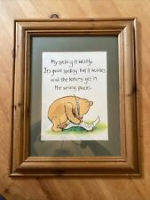 More details for framed picture of winnie the pooh