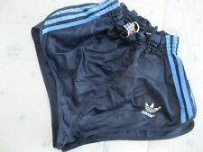 RARE Adidas Vintage nylon Football Shorts retro 80s football shiny running D4