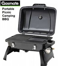 Gasmate Gas BBQ Grill with Cooking Plates Lid Portable Picnic Camping Barbecue