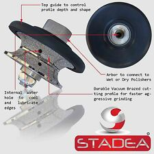 "STADEA Diamond Profile Grinding Wheel Full Bullnose 3/4"" Granite Stone Concrete"