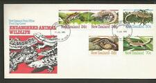 NEW ZEALAND - 1984 Amphibians and Reptiles  - FIRST DAY COVER.
