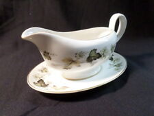Royal Doulton. Larchmont. Gravy Boat & Plate. TC1019. Made In England.