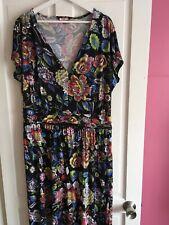 Joe Browns Ladies Size 22 Black Mix Floral Maxi Dress ⭐️