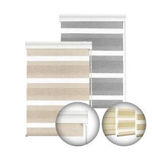 Gardinia Doppelrollo mit Aluminumkassette, Rollo, Seitenzug, Wand Deckenmontage