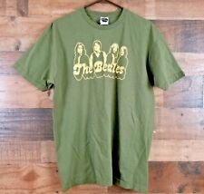 The Beatles Adult XL Green T-shirt Band Members Embossed Graphic Mens Womens