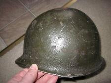 Original vintage WWII US Army front seam steel helmet with three star liner !!!