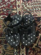 Gap Toddler Navy Blue Jelly Shoes with Bows size 6T
