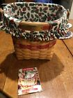 Longaberger 1998 Glad Tidings Christmas Basket - Green With Liner And Protector