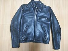 schott 641E 36  steerhide black leather single motorcycle jacket caferacer 618