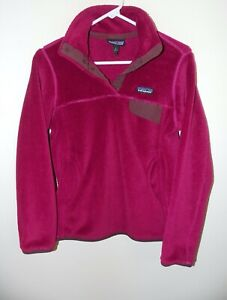 Women's Patagonia Re-Tool Snap-T® Fleece Pullover Small Purple