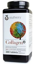 Youtheory COLLAGEN Advanced Formula 390 tablets Type 1,2,3 with Amino acids