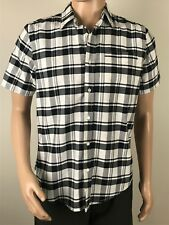 Hurley  Mens Short Sleeve Button Front Shirt Size lSmall  Check