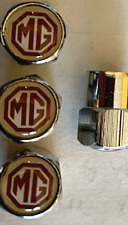 ***FREE POST***  RED MG  LOGO TYRE VALVE DUST CAPS. SETOF 4    ***FREE POST***