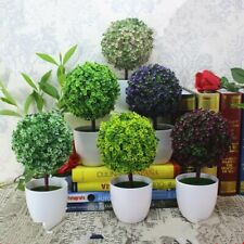 3x Small Artificial Topiary Ball Plants in Pots Indoor Flowers Trees Leaves