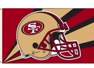 San Francisco 49ers 3x5 Flag - Helmet Design NFL Banner - Sign - Man Cave 49 Fan