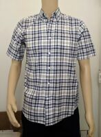 Haggar Clothing Men/'s Fitted Short Sleeve 100/% Cotton Bright Red Shirt