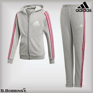 🔥 Adidas® Girls Cotton Hoodie Tracksuit Age 5-6-7-8-9-10-12-13-14-15-16 Years