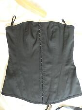 UK8 Black Corset Basque by New Look Goth Steampunk Victorian Edwardian Style