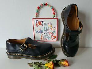 Dr Doc Martens mary jane polley sandals black shoes UK 6 EU 39 US 8